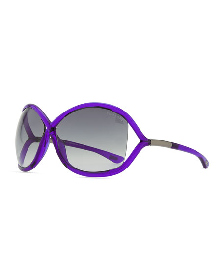 Whitney Bold Sunglasses, Purple