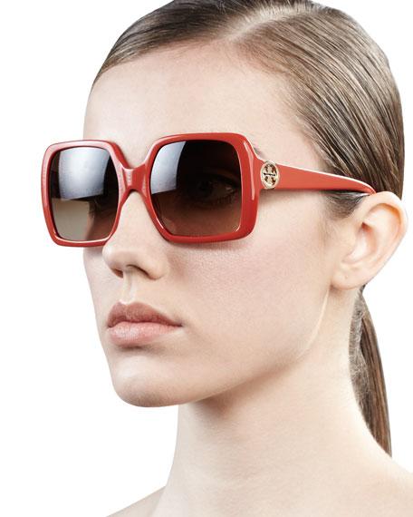 Sharp Square Sunglasses, Orange