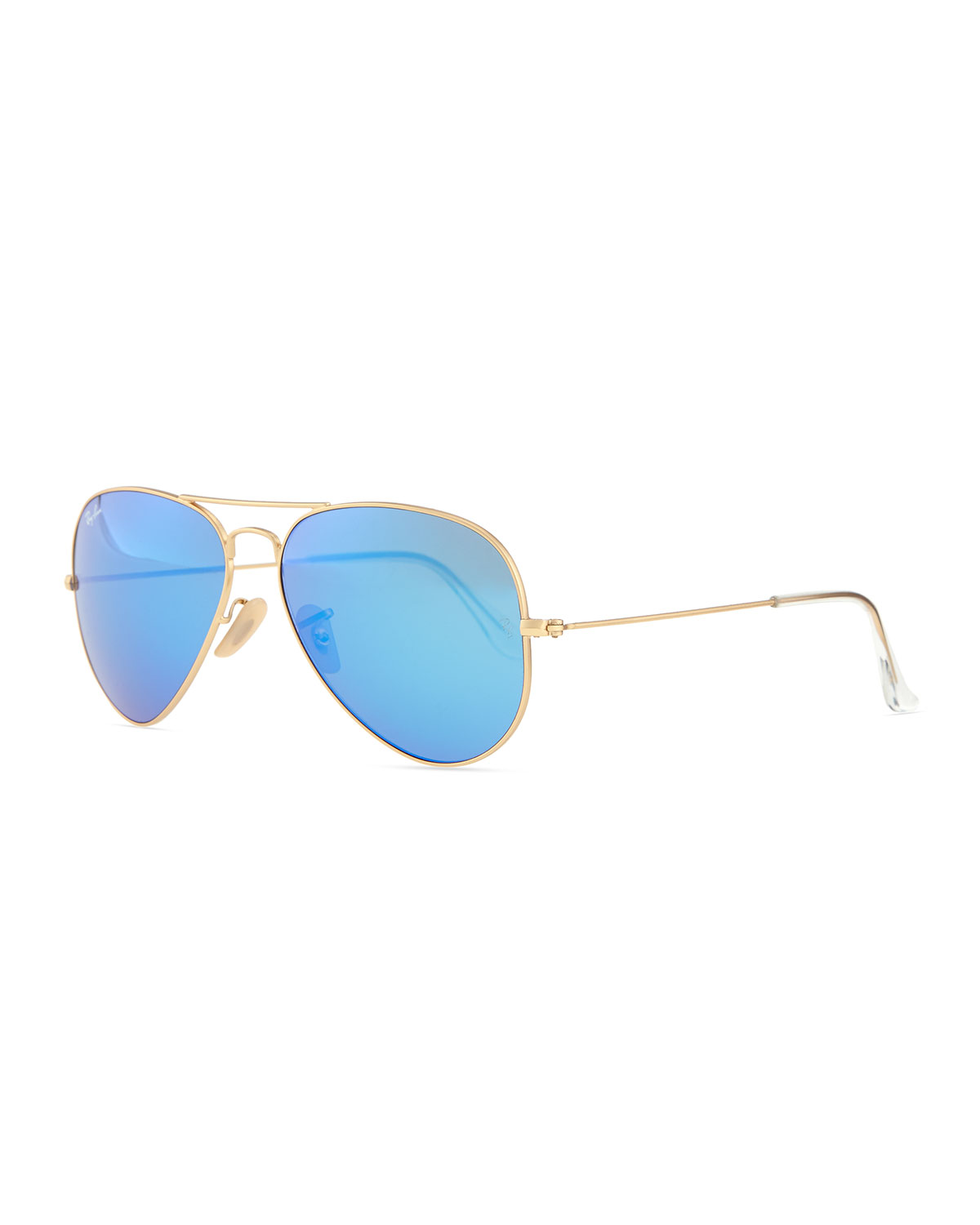 9933bdad35 Ray-Ban Aviator Sunglasses with Flash Lenses