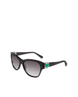 David Yurman Albion Wayfarer Sunglasses, Black Onyx