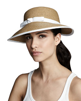 Eric Javits Squishee Hat, Natural/White