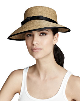 Eric Javits Squishee Hat, Natural/Black