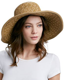 Eric Javits Squishee Shade Wide-Brim Hat, Natural