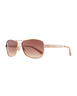 Jimmy Choo Cris Metal Sunglasses, Red