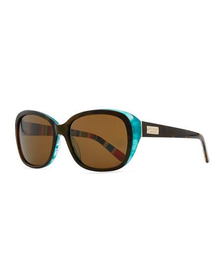 kate spade new york hilde rounded polarized sunglasses,