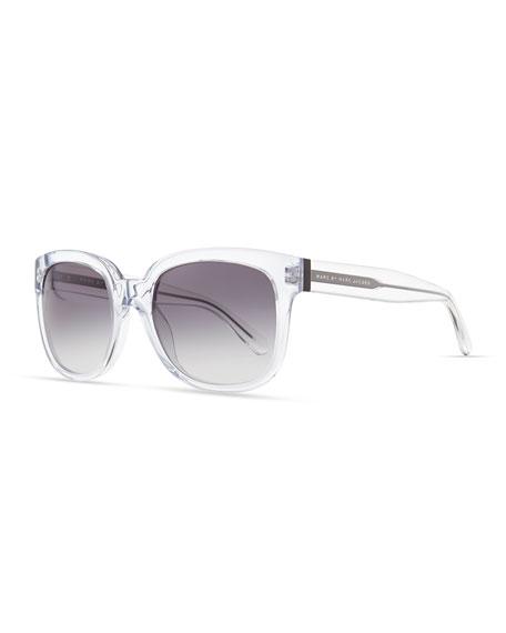 Clear Gradient Sunglasses, Gray