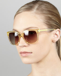 MARC by Marc Jacobs Clear Gradient Sunglasses, Yellow