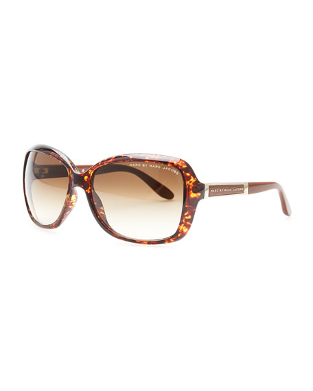 Marc By Marc Jacobs Round Frame Glasses : MARC by Marc Jacobs Round Plastic Sunglasses