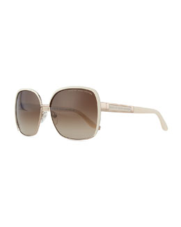 MARC by Marc Jacobs Squared Gradient Lenses, Cream