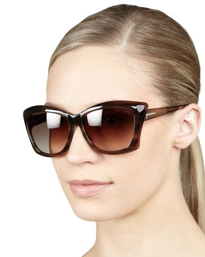 Tom Ford Lana Sunglasses, Shiny Brown