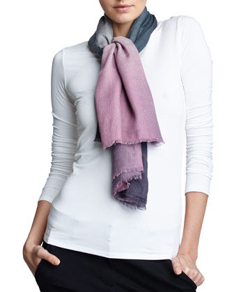 Ombre Square Scarf, Grape