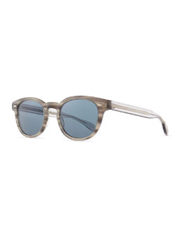 Oliver Peoples Sheldrake Round Photochromic Sunglasses, Gray Tortoise