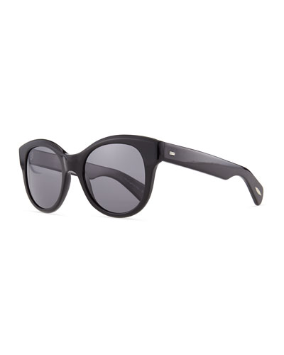 Oliver Peoples Jacey Polarized Sunglasses, Black