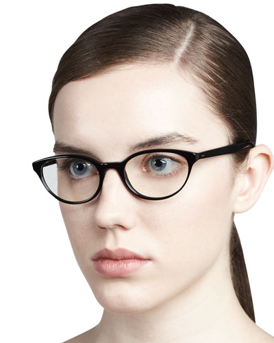Oliver Peoples Lilla Cat-Eye Fashion Glasses, Black