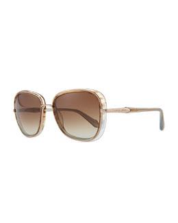 Carolina Herrera Butterfly Sunglasses, Shiny Gold Melange
