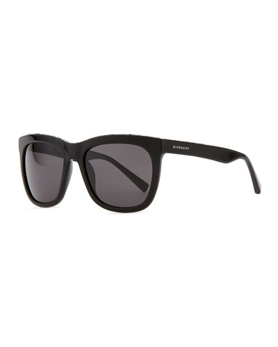 Givenchy Crystal-Trim Square Sunglasses, Black