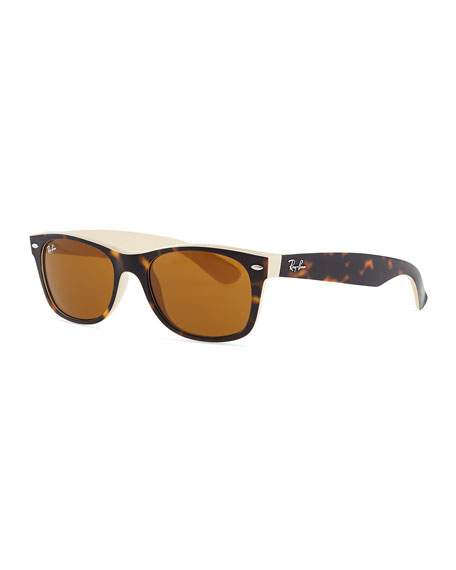 New Wayfarer Sunglasses, Tortoise/Beige