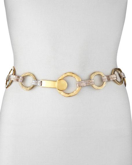 Golden Hammered O-Ring Belt