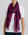 Burberry Giant Check Gauze Scarf, Bright Damson