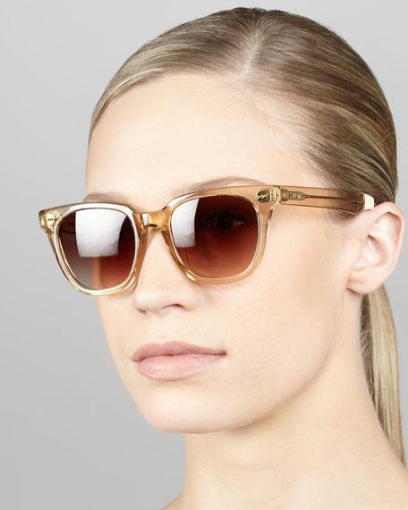 Memphis Sunglasses  toms eyewear enamel sunglasses champagne memphis