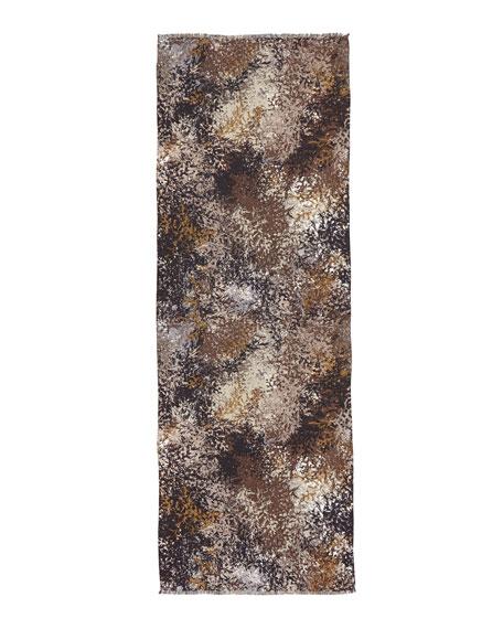 Feuilles En Hiver Cashmere-Silk Stole