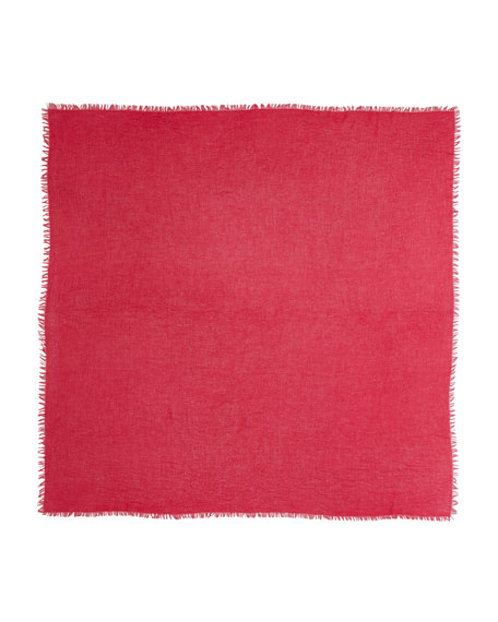 Feather-Weight Cashmere Shawl, Scarlet