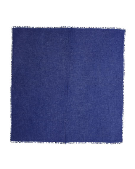Feather-Weight Cashmere Shawl, Ink Blue