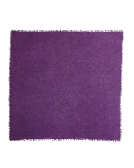 Feather-Weight Cashmere Shawl, Plum