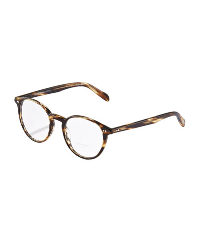 Oliver Peoples Elins Round Fashion Glasses, Cocobolo