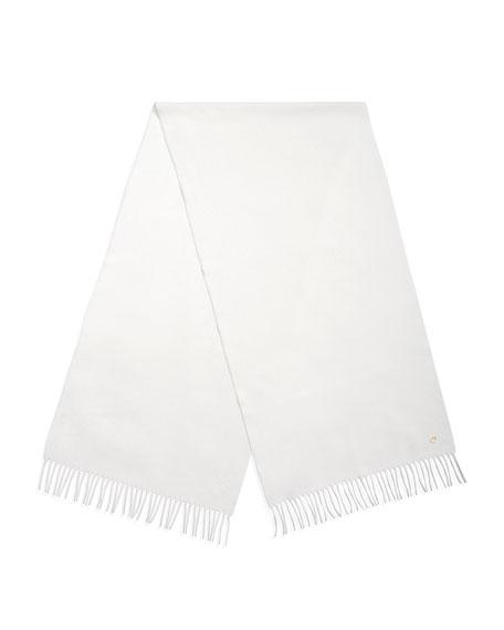 Grande Unita Cashmere Scarf, White