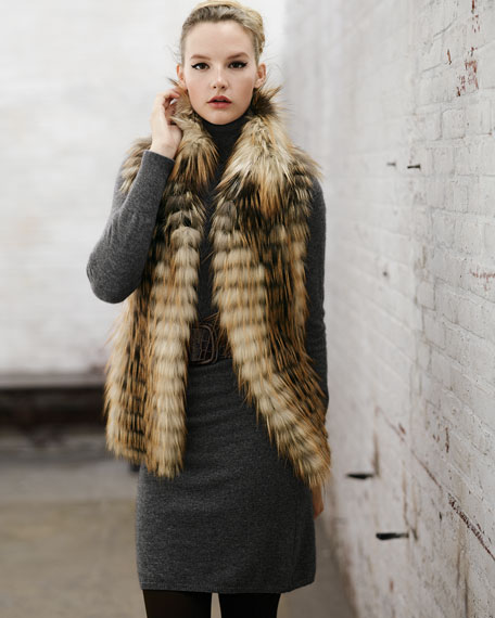 Limited Edition Smoky Fox Fur Vest