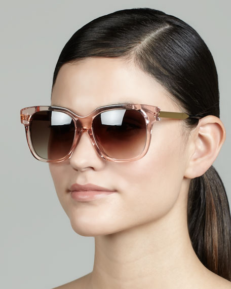 Rhapsody Transparent Sunglasses, Pink