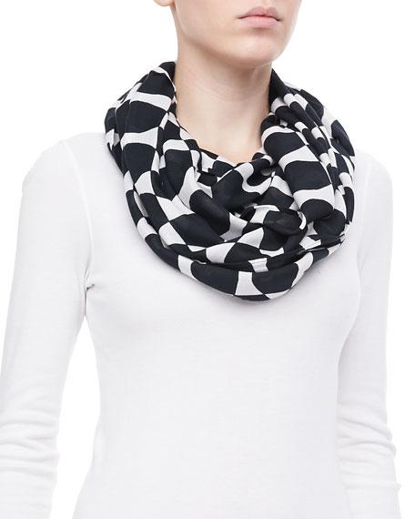 logo bow infinity scarf