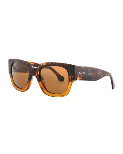 Balenciaga Havana Vintage Sunglasses, Brown