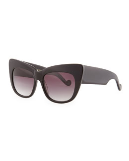 Anna-Karin Karlsson Alice Goes to Cannes Solid Sunglasses, Black