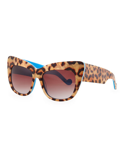 Anna-Karin Karlsson Alice Goes to Cannes Leopard-Print Sunglasses