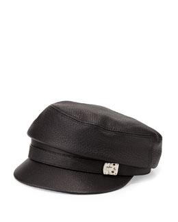 Gucci Deerskin Paperboy Cap, Nero