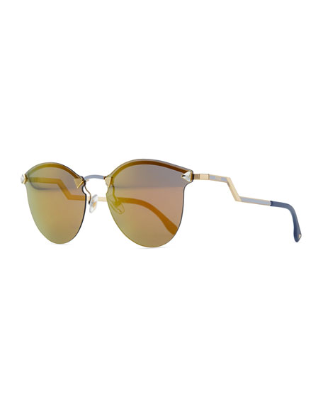 Rimless Glasses Benefits : Fendi Rimless Sunglasses with Stepped Arms