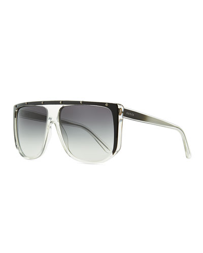 8ce4c80300 Gucci Studded Plastic Shield Sunglasses
