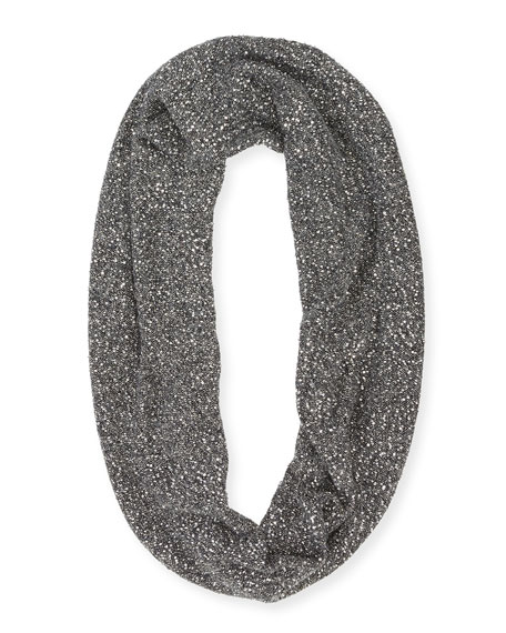 Sequined Knit Infinity Scarf
