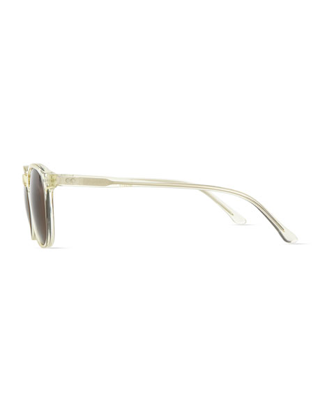 Whiteman Round Sunglasses, Clear