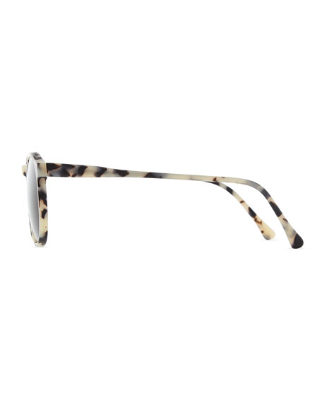 Hudson Sunglasses, White/Gray