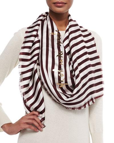 planetary stripe large square scarf