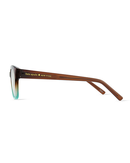 amilia rectangle readers, brown/blue