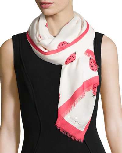 ladies first ladybug printed scarf