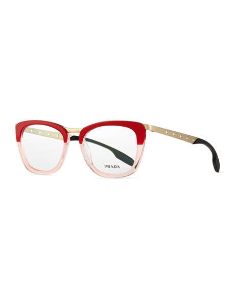 Ombre Fashion Glasses, Red