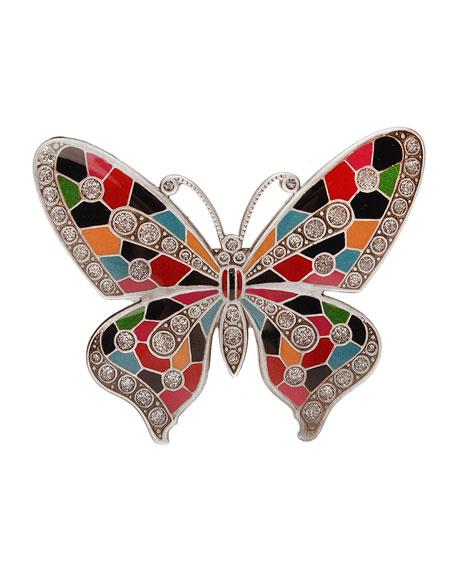 Marbella Butterfly Enamel Barrette