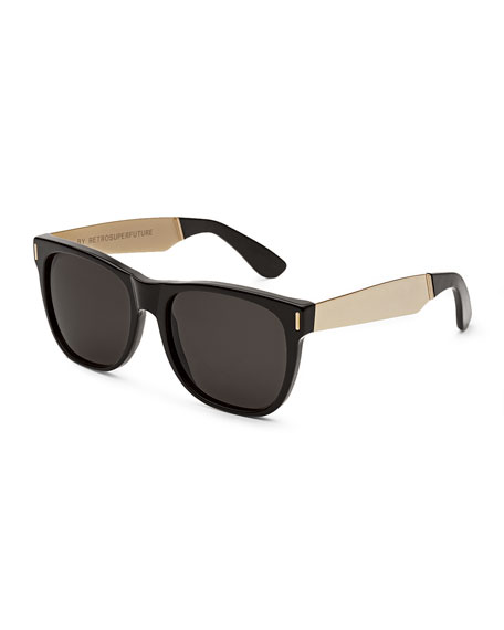 Retrosuperfuture Sunglasses  super by retrosuperfuture classic francis sunglasses black gold