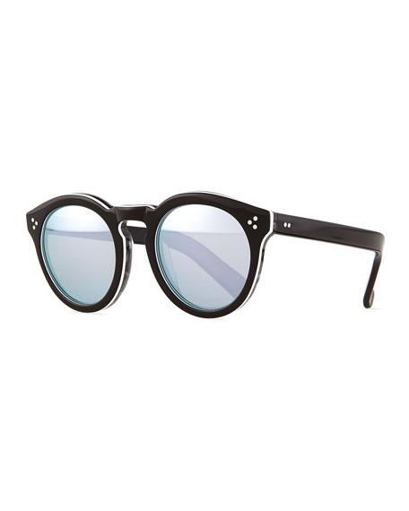 Illesteva Leonard II Mirrored Sunglasses, Tuxedo