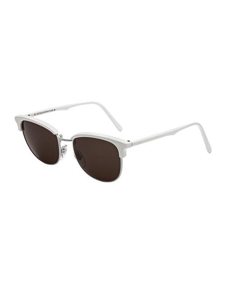 Super by Retrosuperfuture Terrazzo Crociera Metal and Acetate Sunglasses, White